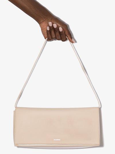 X Browns 50 neutral Prism leather shoulder bag