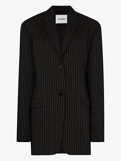 X Browns 50 Pinstripe button-up blazer