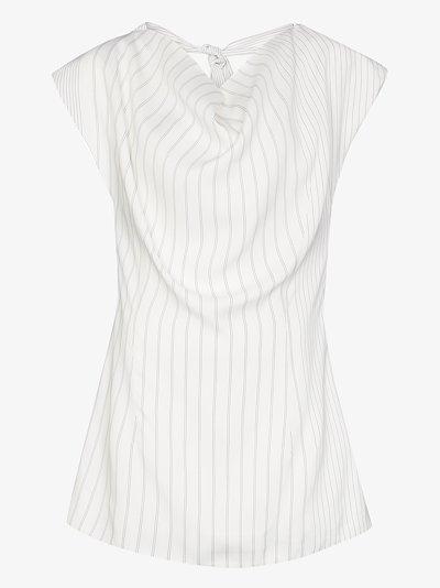 X Browns 50 pinstripe cowl neck blouse