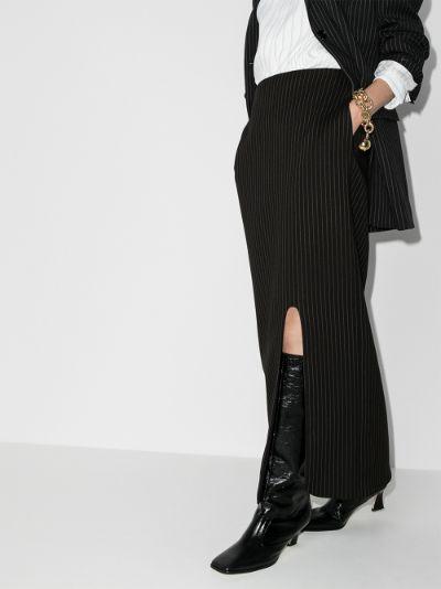 X Browns 50 Pinstripe maxi skirt