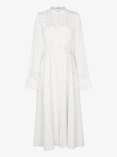 X Browns 50 pinstripe shirt dress