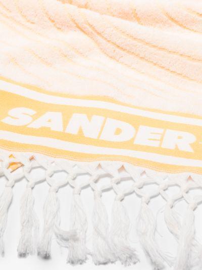 Yellow Logo fringed Towel