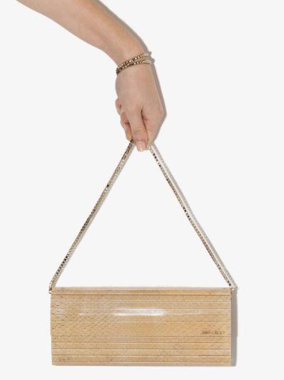 beige Sweetie snake effect clutch bag