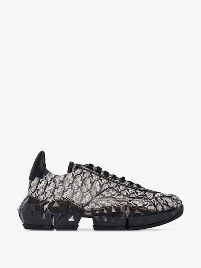 black Diamond JC monogram sneakers