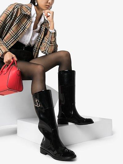 black Edith rain boots