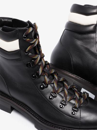 black Eshe leather hiking boots