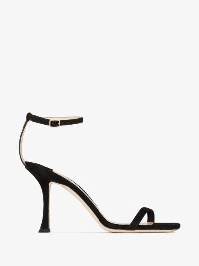 black Marin 90 suede sandals