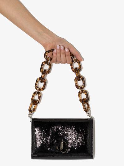 Black Varenne patent leather clutch bag