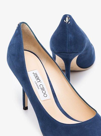 blue Love 85 suede pumps
