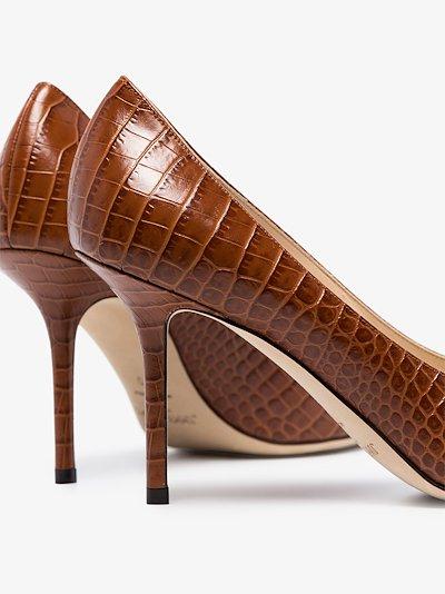 brown Love 85 croc effect pumps