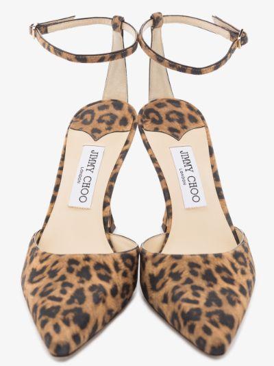 brown Mair 90 leopard print pumps