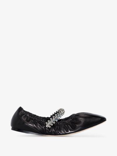 Gai crystal-embellished ballerina shoes
