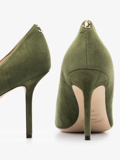 green Love 85 suede pumps
