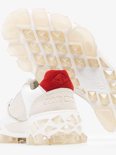 white Diamond X leather sneakers