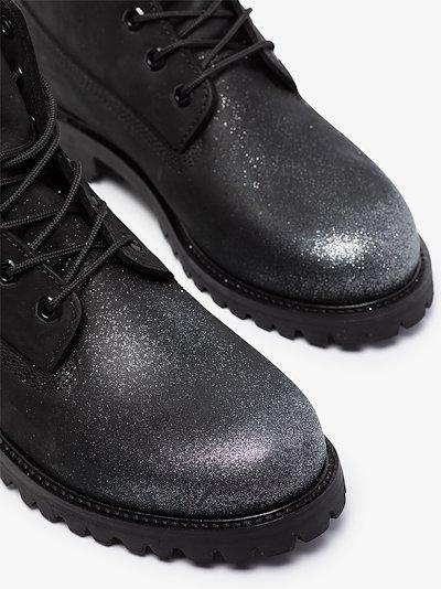 X Timberland black nubuck leather boots