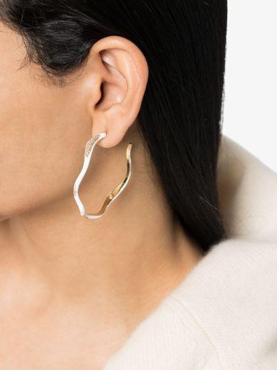 gold-plated feminine waves hoop earrings
