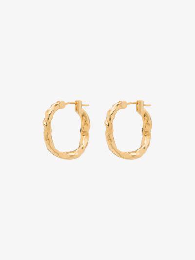 gold-plated Waves hoop earrings