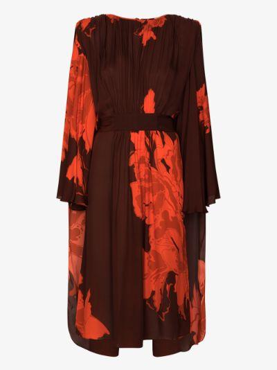 A Secret Place floral silk midi dress