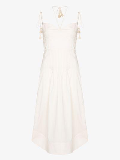 Aromatic Essence cotton midi dress