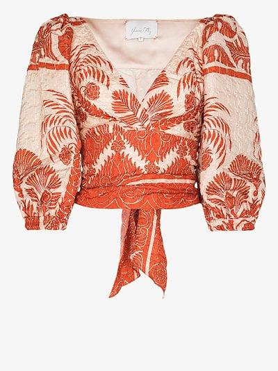 Astral transit printed blouse