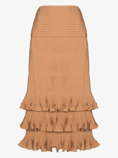 canela flavour midi skirt