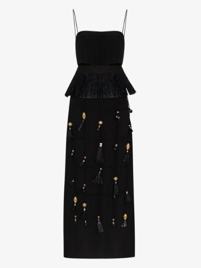 New Realities silk maxi dress