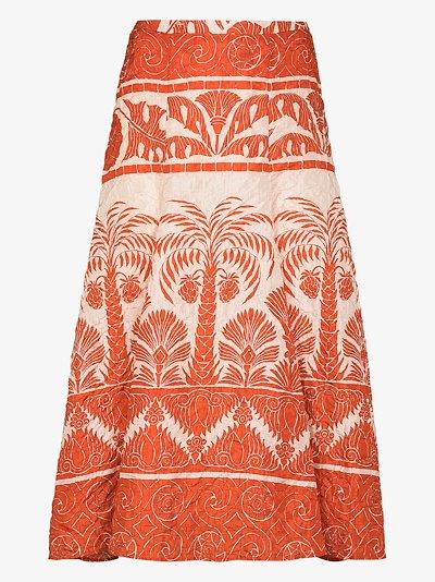 Palm to Nadube midi skirt