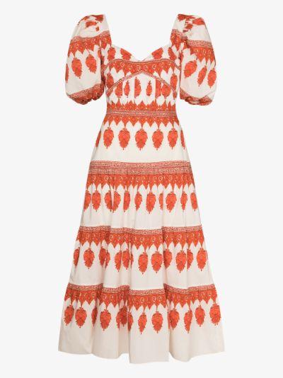 Red Pepper Colourful Culture cotton midi dress