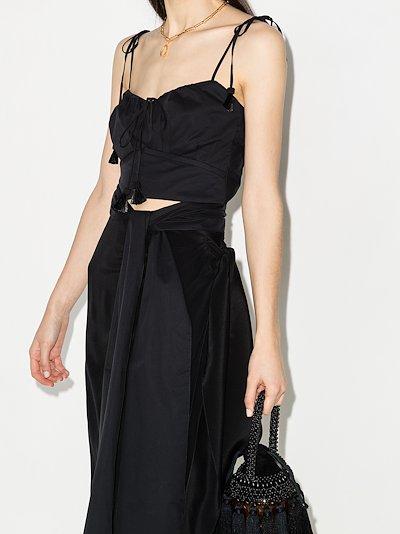 Retrospect cutout sleeveless dress