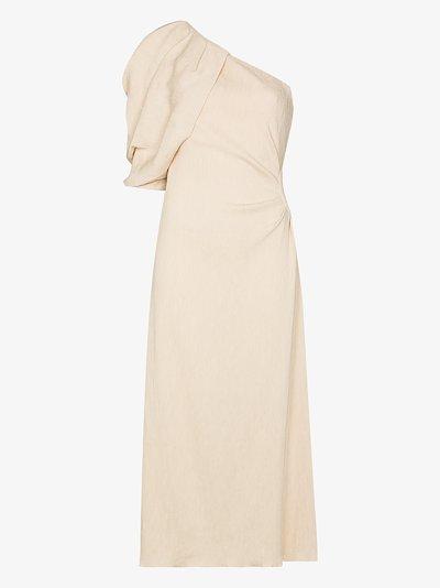 Sea Island one shoulder dress