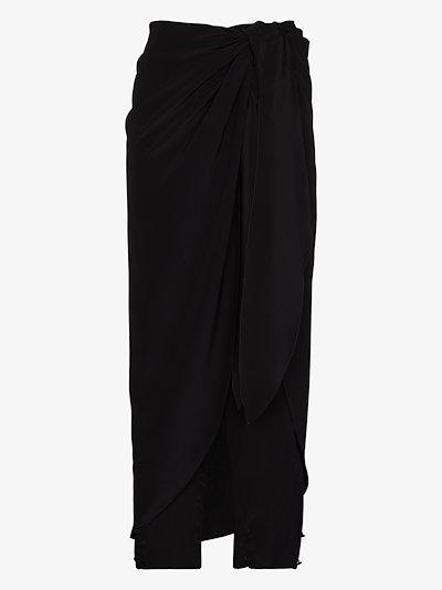 Sol Naciente tie waist silk trousers