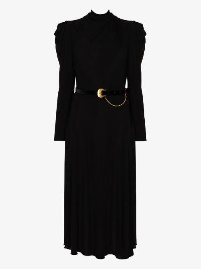 Solamente Tu belted dress