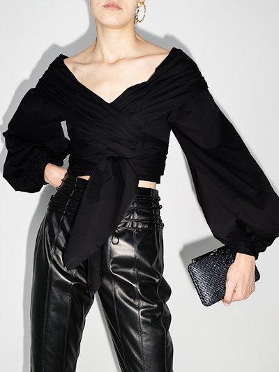 Tu Romancero wrap blouse