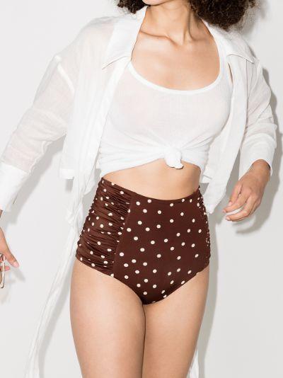 Volcano polka dot print bikini bottoms