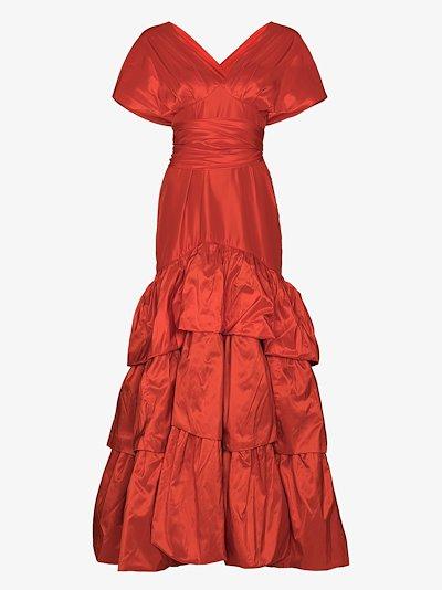 written heart silk gown