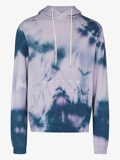 Beach tie-dye cotton hoodie
