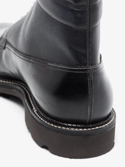 X Browns 50 black Alder leather boots