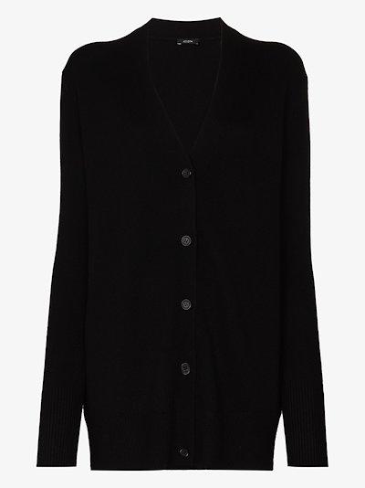 button-up cashmere cardigan