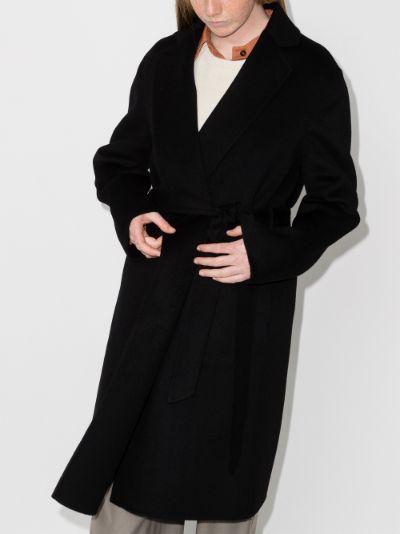 Cenda belted wrap coat
