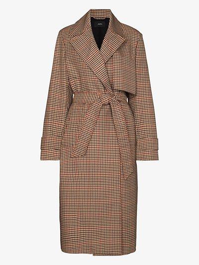 Chasa tweed trench coat