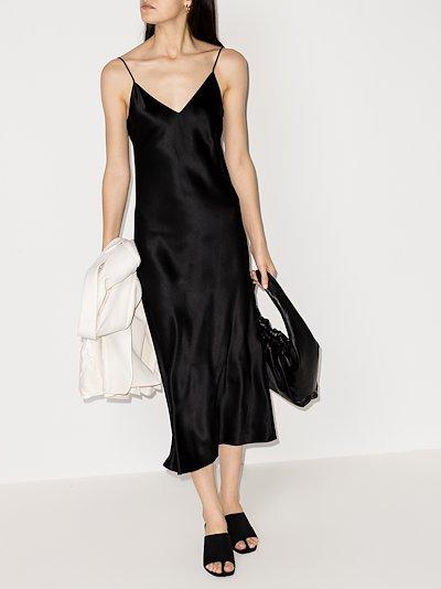 Clea V-neck silk dress