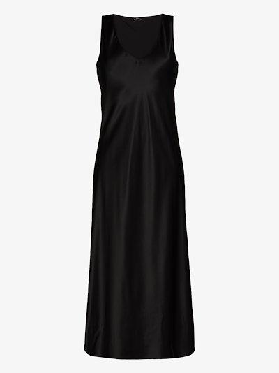 Daris silk satin slip dress