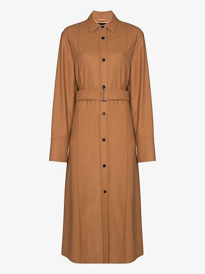 Dicha wool shirt dress