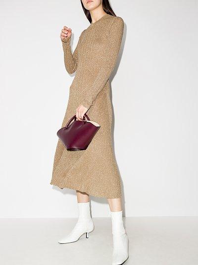 Diva lurex knit midi dress