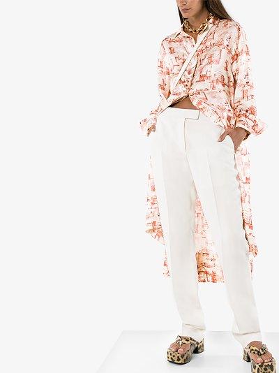 Gaya montage print shirt dress