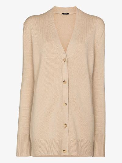 longline cashmere cardigan