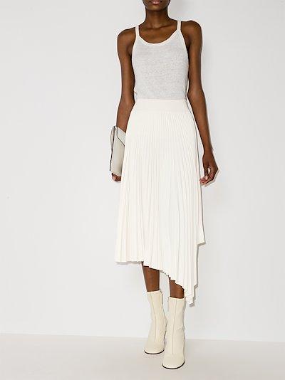 Swinton pleated midi skirt