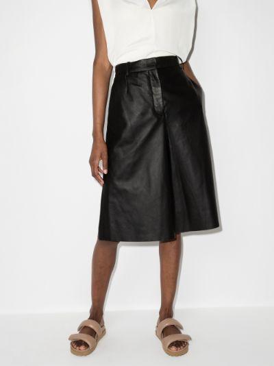 Teresa high waist leather shorts