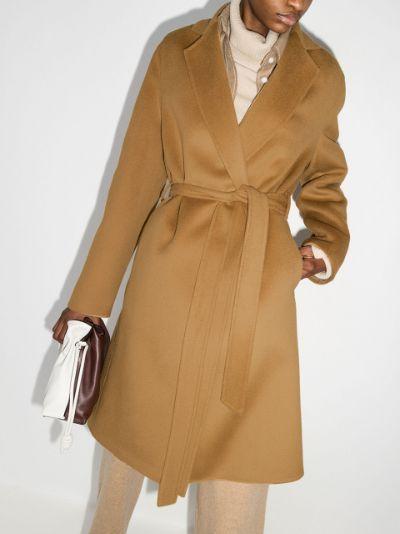 tie-waist tailored coat
