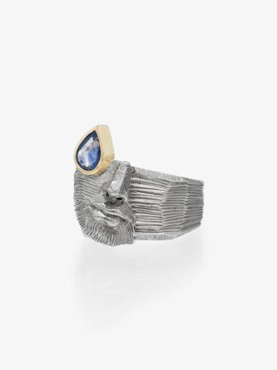 18K yellow gold Precious Tear sapphire ring